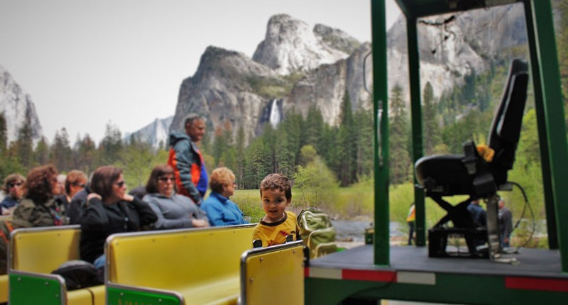 Yosemite school trip tram tours