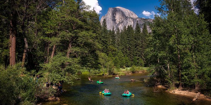 River rafting in Yosemite