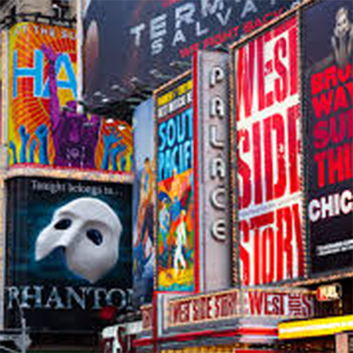 Theater district in New York City