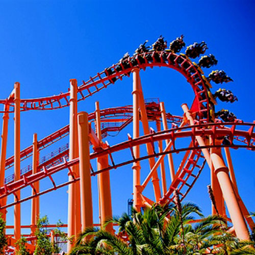 Roller coaster at Discovery Kingdom in California